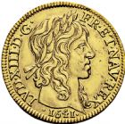 Photo numismatique  ARCHIVES VENTE 2016 -6 juin ROYALES FRANCAISES LOUIS XIII (16 mai 1610-14 mai 1643)  9- Louis d'or à la mèche longue, Paris 1641.