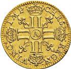Photo numismatique  ARCHIVES VENTE 2016 -6 juin ROYALES FRANCAISES LOUIS XIII (16 mai 1610-14 mai 1643)  10- 1/2 louis d'or, Paris 1642.