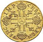 Photo numismatique  ARCHIVES VENTE 2016 -6 juin ROYALES FRANCAISES LOUIS XIV (14 mai 1643-1er septembre 1715)  12- Louis d'or à la mèche longue, Paris 1653.
