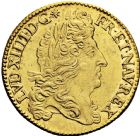 Photo numismatique  ARCHIVES VENTE 2016 -6 juin ROYALES FRANCAISES LOUIS XIV (14 mai 1643-1er septembre 1715)  13- Double louis d'or à l'écu, Paris 1690.