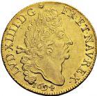 Photo numismatique  ARCHIVES VENTE 2016 -6 juin ROYALES FRANCAISES LOUIS XIV (14 mai 1643-1er septembre 1715)  14- Double louis d'or aux quatre L, Paris 1694.