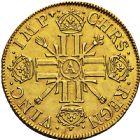 Photo numismatique  ARCHIVES VENTE 2016 -6 juin ROYALES FRANCAISES LOUIS XIV (14 mai 1643-1er septembre 1715)  16- Double louis d'or aux huit L et aux insignes, Paris 1701.
