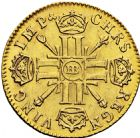 Photo numismatique  ARCHIVES VENTE 2016 -6 juin ROYALES FRANCAISES LOUIS XIV (14 mai 1643-1er septembre 1715)  17- Louis d'or aux huit L et aux insignes, Strasbourg, 1700.