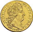 Photo numismatique  ARCHIVES VENTE 2016 -6 juin ROYALES FRANCAISES LOUIS XIV (14 mai 1643-1er septembre 1715)  18- Louis d'or aux insignes, Paris 1705.