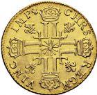 Photo numismatique  ARCHIVES VENTE 2016 -6 juin ROYALES FRANCAISES LOUIS XIV (14 mai 1643-1er septembre 1715)  19- Louis d'or au soleil, Besançon 1709.