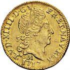 Photo numismatique  ARCHIVES VENTE 2016 -6 juin ROYALES FRANCAISES LOUIS XIV (14 mai 1643-1er septembre 1715)  20- 1/2 louis d'or au soleil, Toulouse 1712.