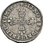 Photo numismatique  ARCHIVES VENTE 2016 -6 juin ROYALES FRANCAISES LOUIS XIV (14 mai 1643-1er septembre 1715)  21- 1/4 d'écu, 1er type, Nantes 1645. Titulature autour de l'écu.