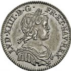 Photo numismatique  ARCHIVES VENTE 2016 -6 juin ROYALES FRANCAISES LOUIS XIV (14 mai 1643-1er septembre 1715)  22- 1/12ème d'écu à la mèche courte, Paris 1644.