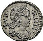 Photo numismatique  ARCHIVES VENTE 2016 -6 juin ROYALES FRANCAISES LOUIS XIV (14 mai 1643-1er septembre 1715)  24- 1/48ème d'écu à la mèche courte au buste drapé, Paris 1644.