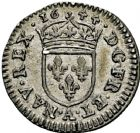 Photo numismatique  ARCHIVES VENTE 2016 -6 juin ROYALES FRANCAISES LOUIS XIV (14 mai 1643-1er septembre 1715)  24- 1/48ème d'écu à la mèche courte au buste drapé, Paris 1644.
