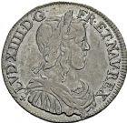 Photo numismatique  ARCHIVES VENTE 2016 -6 juin ROYALES FRANCAISES LOUIS XIV (14 mai 1643-1er septembre 1715)  25- 1/2 écu à la mèche longue, Poitiers 1651 - 1/12ème d'écu à la mèche longue, Paris 1646 et 1653.
