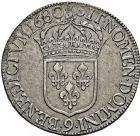 Photo numismatique  ARCHIVES VENTE 2016 -6 juin ROYALES FRANCAISES LOUIS XIV (14 mai 1643-1er septembre 1715)  26- Ecu à la cravate, dit « du Parlement », 1er type, Rennes 1680.