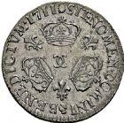 Photo numismatique  ARCHIVES VENTE 2016 -6 juin ROYALES FRANCAISES LOUIS XIV (14 mai 1643-1er septembre 1715)  28- 1/10ème d'écu aux trois couronnes, Besançon 1711.