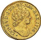 Photo numismatique  ARCHIVES VENTE 2016 -6 juin ROYALES FRANCAISES LOUIS XV (1er septembre 1715-10 mai 1774)  29- Louis d'or aux insignes, Paris 1716.