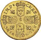 Photo numismatique  ARCHIVES VENTE 2016 -6 juin ROYALES FRANCAISES LOUIS XV (1er septembre 1715-10 mai 1774)  30- Louis d'or dit «de Noailles», Reims 1718.