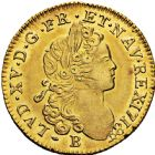 Photo numismatique  ARCHIVES VENTE 2016 -6 juin ROYALES FRANCAISES LOUIS XV (1er septembre 1715-10 mai 1774)  31- Louis d'or à la croix du Saint-Esprit, Rouen 1718.