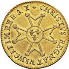 Photo numismatique  ARCHIVES VENTE 2016 -6 juin ROYALES FRANCAISES LOUIS XV (1er septembre 1715-10 mai 1774)  31- Louis d'or à la croix du Saint-Esprit, Rouen 1718.