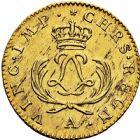 Photo numismatique  ARCHIVES VENTE 2016 -6 juin ROYALES FRANCAISES LOUIS XV (1er septembre 1715-10 mai 1774)  32- Louis d'or dit «Mirliton» aux palmes courtes, Paris 1723.