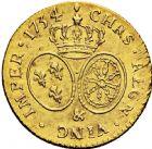 Photo numismatique  ARCHIVES VENTE 2016 -6 juin ROYALES FRANCAISES LOUIS XV (1er septembre 1715-10 mai 1774)  34- Louis d'or aux lunettes, Aix 1734.