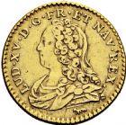 Photo numismatique  ARCHIVES VENTE 2016 -6 juin ROYALES FRANCAISES LOUIS XV (1er septembre 1715-10 mai 1774)  35- 1/2 louis d'or aux lunettes, Paris 1726.