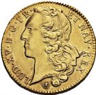 Photo numismatique  ARCHIVES VENTE 2016 -6 juin ROYALES FRANCAISES LOUIS XV (1er septembre 1715-10 mai 1774)  36- Double Louis d'or au bandeau, Lyon 1744.