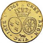 Photo numismatique  ARCHIVES VENTE 2016 -6 juin ROYALES FRANCAISES LOUIS XV (1er septembre 1715-10 mai 1774)  37- Double Louis d'or au bandeau, Pau 1765.