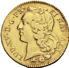 Photo numismatique  ARCHIVES VENTE 2016 -6 juin ROYALES FRANCAISES LOUIS XV (1er septembre 1715-10 mai 1774)  38- Double Louis d'or au bandeau, Lyon 1756.
