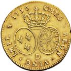 Photo numismatique  ARCHIVES VENTE 2016 -6 juin ROYALES FRANCAISES LOUIS XV (1er septembre 1715-10 mai 1774)  38- Double Louis d'or au bandeau, Lyon 1756.