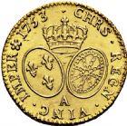 Photo numismatique  ARCHIVES VENTE 2016 -6 juin ROYALES FRANCAISES LOUIS XV (1er septembre 1715-10 mai 1774)  40- Louis d'or au bandeau, Paris 1753 second semestre.