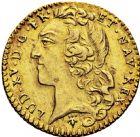Photo numismatique  ARCHIVES VENTE 2016 -6 juin ROYALES FRANCAISES LOUIS XV (1er septembre 1715-10 mai 1774)  42- 1/2 louis d'or au bandeau, Reims 1752.