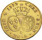 Photo numismatique  ARCHIVES VENTE 2016 -6 juin ROYALES FRANCAISES LOUIS XV (1er septembre 1715-10 mai 1774)  43-  Double louis d'or à la vieille tête, frappé à Limoges en 1772.