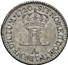 Photo numismatique  ARCHIVES VENTE 2016 -6 juin ROYALES FRANCAISES LOUIS XV (1er septembre 1715-10 mai 1774)  45- Livre dite « de la compagnie des Indes », Paris 1720.