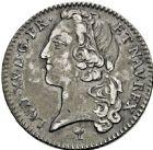 Photo numismatique  ARCHIVES VENTE 2016 -6 juin ROYALES FRANCAISES LOUIS XV (1er septembre 1715-10 mai 1774)  46- 1/5ème d'écu au bandeau, Troyes 1741.