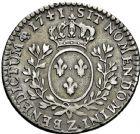Photo numismatique  ARCHIVES VENTE 2016 -6 juin ROYALES FRANCAISES LOUIS XV (1er septembre 1715-10 mai 1774)  47- 1/10ème d'écu au bandeau, Grenoble 1741.