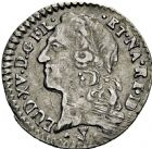 Photo numismatique  ARCHIVES VENTE 2016 -6 juin ROYALES FRANCAISES LOUIS XV (1er septembre 1715-10 mai 1774)  49- 1/20ème d'écu au bandeau, Pau 1764.