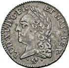 Photo numismatique  ARCHIVES VENTE 2016 -6 juin ROYALES FRANCAISES LOUIS XV (1er septembre 1715-10 mai 1774)  50- 1/5ème d'écu «à la vieille tête», Bayonne 1772.