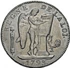 Photo numismatique  ARCHIVES VENTE 2016 -6 juin MODERNES FRANÇAISES LA CONVENTION (22 septembre 1792 - 26 octobre 1795)  77-  Ecu de six livres, Paris 1793 an II.