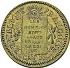 Photo numismatique  ARCHIVES VENTE 2016 -6 juin MODERNES FRANÇAISES LA CONVENTION (22 septembre 1792 - 26 octobre 1795)  78- Sol à la balance, Metz 1793 refrappe. Sans les accents.