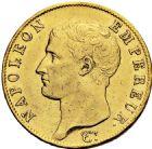 Photo numismatique  ARCHIVES VENTE 2016 -6 juin MODERNES FRANÇAISES NAPOLEON Ier, empereur (18 mai 1804- 6 avril 1814)  92-  40 francs or, Paris an 13.