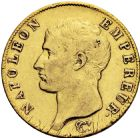 Photo numismatique  ARCHIVES VENTE 2016 -6 juin MODERNES FRANÇAISES NAPOLEON Ier, empereur (18 mai 1804- 6 avril 1814)  94- 40 francs or, Paris an 14.