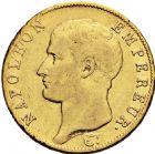 Photo numismatique  ARCHIVES VENTE 2016 -6 juin MODERNES FRANÇAISES NAPOLEON Ier, empereur (18 mai 1804- 6 avril 1814)  95- 40 francs or, Turin an 14.