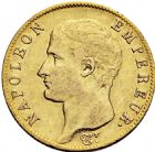 Photo numismatique  ARCHIVES VENTE 2016 -6 juin MODERNES FRANÇAISES NAPOLEON Ier, empereur (18 mai 1804- 6 avril 1814)  97-  20 francs or, Paris an 14.