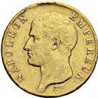 Photo numismatique  ARCHIVES VENTE 2016 -6 juin MODERNES FRANÇAISES NAPOLEON Ier, empereur (18 mai 1804- 6 avril 1814)  99-  40 francs or, Toulouse 1806.