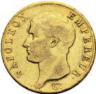 Photo numismatique  ARCHIVES VENTE 2016 -6 juin MODERNES FRANÇAISES NAPOLEON Ier, empereur (18 mai 1804- 6 avril 1814)  100- 40 francs or, Turin 1806.