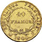 Photo numismatique  ARCHIVES VENTE 2016 -6 juin MODERNES FRANÇAISES NAPOLEON Ier, empereur (18 mai 1804- 6 avril 1814)  100- 40 francs or, Turin 1806.