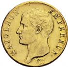 Photo numismatique  ARCHIVES VENTE 2016 -6 juin MODERNES FRANÇAISES NAPOLEON Ier, empereur (18 mai 1804- 6 avril 1814)  101-  40 francs or, Turin 1806.