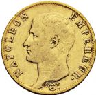 Photo numismatique  ARCHIVES VENTE 2016 -6 juin MODERNES FRANÇAISES NAPOLEON Ier, empereur (18 mai 1804- 6 avril 1814)  103-  20 francs or, Paris 1806.