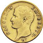 Photo numismatique  ARCHIVES VENTE 2016 -6 juin MODERNES FRANÇAISES NAPOLEON Ier, empereur (18 mai 1804- 6 avril 1814)  104-  20 francs or, Perpignan 1806.