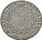 Photo numismatique  ARCHIVES VENTE 2016 -6 juin MODERNES FRANÇAISES NAPOLEON Ier, empereur (18 mai 1804- 6 avril 1814)  106-  5 francs, Turin an 14.