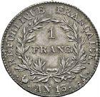 Photo numismatique  ARCHIVES VENTE 2016 -6 juin MODERNES FRANÇAISES NAPOLEON Ier, empereur (18 mai 1804- 6 avril 1814)  107- 1 franc, Paris an 13.
